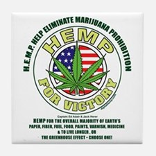 Hemp for Victory Tile Coaster