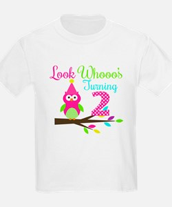 Look Whooos Turning Two T-Shirt