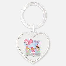 Love Skating Heart Keychain