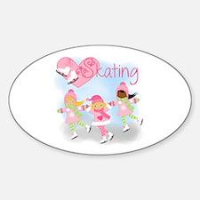 Love Skating Sticker (Oval)