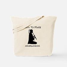 Born To Flute Shakuhachi Player Tote Bag