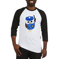 Owl Police Officer Baseball Jersey