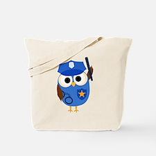 Owl Police Officer Tote Bag