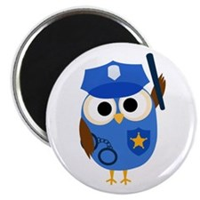 Owl Police Officer 2.25&Quot; Magnet (10 Pack)
