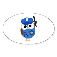Owl Police Officer Decal