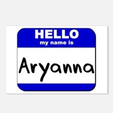hello my name is aryanna  Postcards (Package of 8)