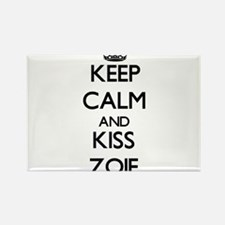 Keep Calm and kiss Zoie Magnets