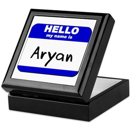 hello my name is aryan Keepsake Box