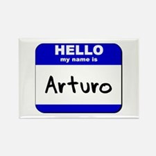 hello my name is arturo Rectangle Magnet