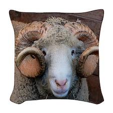 Cash Horned Dorset Ram Woven Throw Pillow