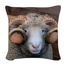 Cash Horned Ram Woven Throw Pillow