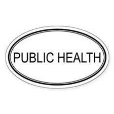 PUBLIC HEALTH Oval Decal