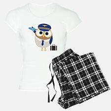 Owl Airplane Pilot Pajamas