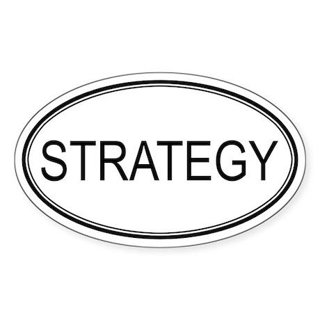 STRATEGY Oval Sticker