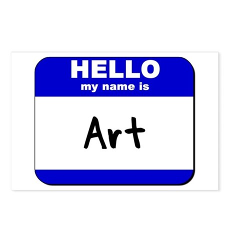 hello my name is art Postcards (Package of 8)