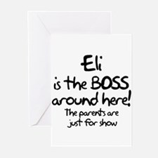 Eli is the Boss Greeting Cards (Pk of 10)