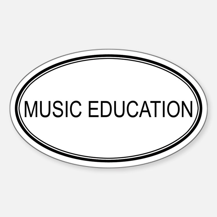 MUSIC EDUCATION Oval Decal