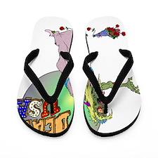 Zombie Beauty Queen Flip Flops