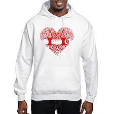 valentine's day tree heart love  Hoodie