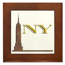 Empire State Building 1j Framed Tile