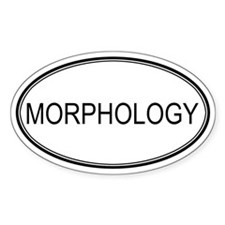 MORPHOLOGY Oval Decal