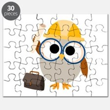 Construction Worker Owl Puzzle