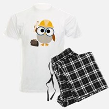 Construction Worker Owl Pajamas
