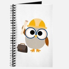 Construction Worker Owl Journal