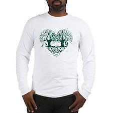 valentine's day tree heart lov Long Sleeve T-Shirt