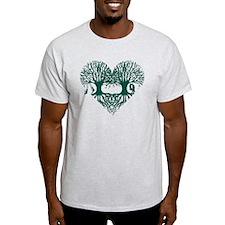 valentine's day tree heart love root T-Shirt