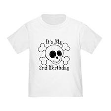 2nd Birthday Pirate Skull T