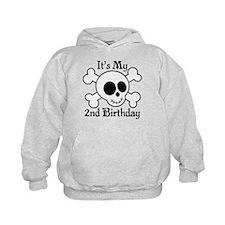 2nd Birthday Pirate Skull Hoody