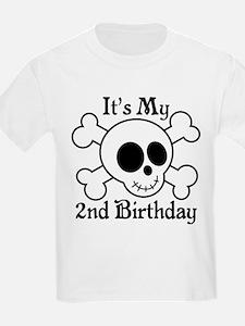 2nd Birthday Pirate Skull T-Shirt
