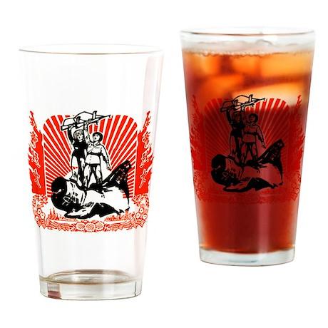 Chinese Propaganda Drinking Glass
