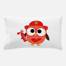 Owl Firefighter Pillow Case