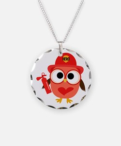 Owl Firefighter Necklace