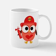 Owl Firefighter Mug