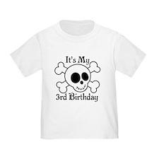 3rd Birthday Pirate Skull T