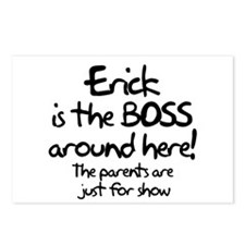 Erick is the Boss Postcards (Package of 8)