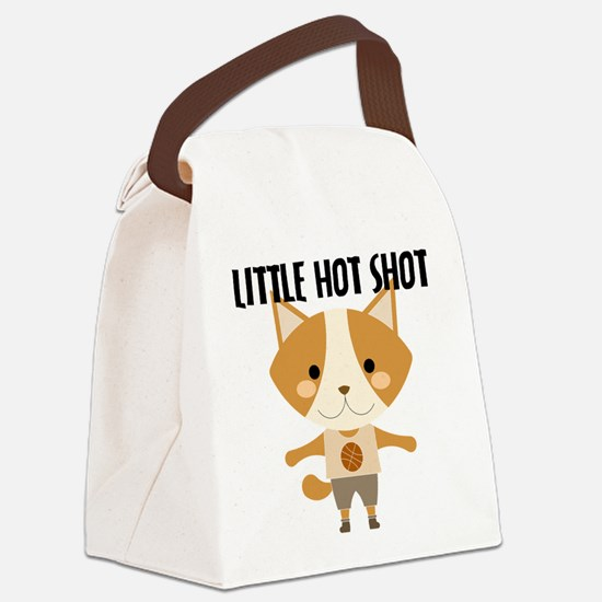 Fox Hot Shot Basketball Canvas Lunch Bag
