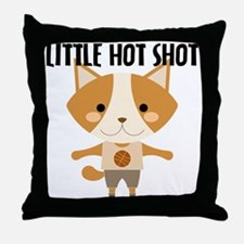 Fox Hot Shot Basketball Throw Pillow