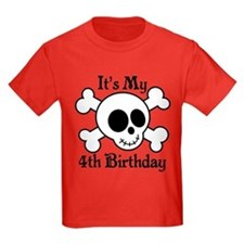 4th Birthday Pirate Skull T