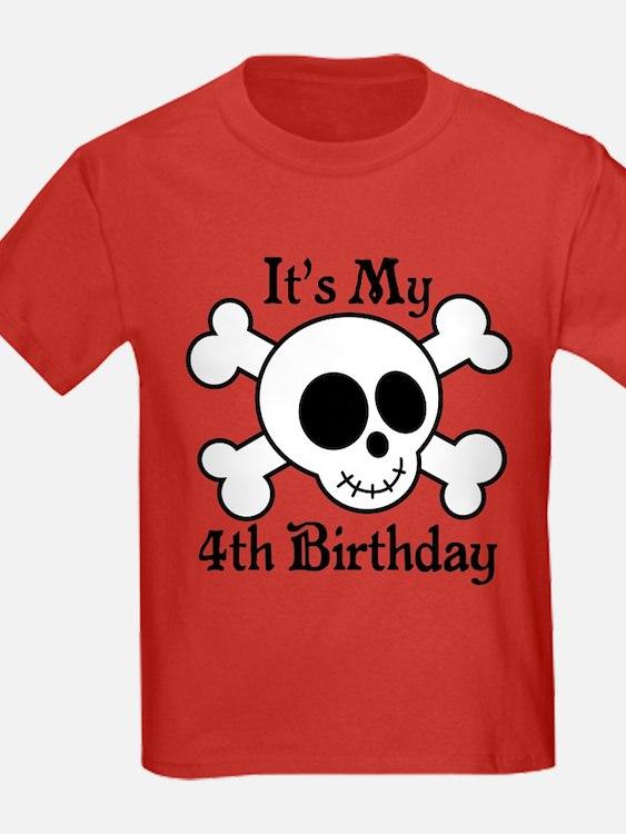 4th Birthday Pirate Skull T