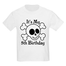 5th Birthday Pirate Skull T-Shirt