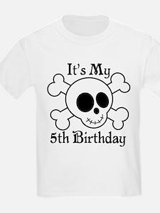 5th Birthday Pirate Skull T-Shirt