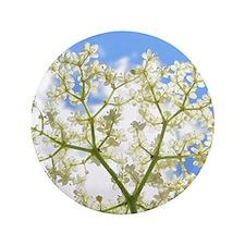 """Elderflower Sky 3.5"""" Button"""