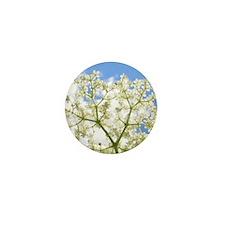 Elderflower Sky Mini Button