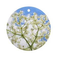 Elderflower Sky Round Ornament