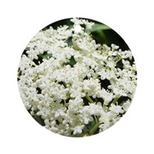 Elderflowers Round Ornament