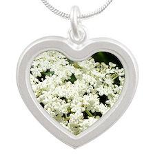 Elderflowers Silver Heart Necklace
